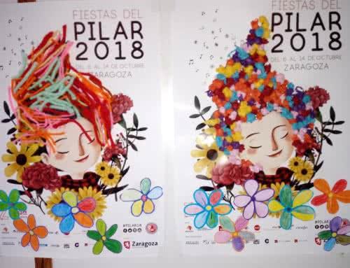 Carteles fiestas del Pilar secundaria 2018